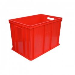 Pojemnik skrzynka plastikowa pełna 410 CZERWONA PEART