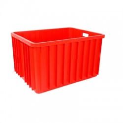 Pojemnik plastikowy transportowy skrzynia 800x600x450 czerwony