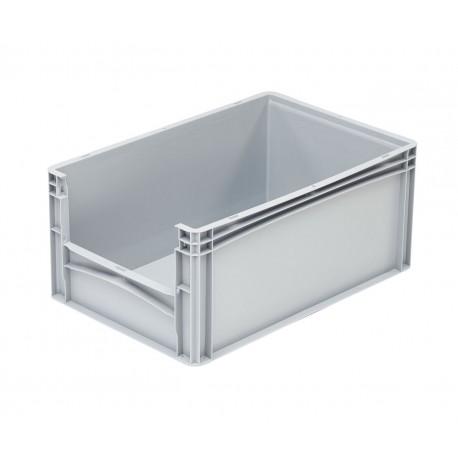 Pojemnik plastikowy z oknem inspekcyjnym B/LW 600x400x270