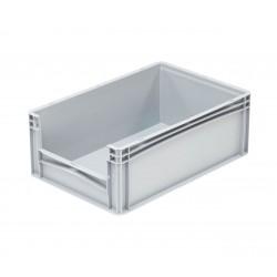 Pojemnik plastikowy z oknem inspekcyjnym B/LW 600x400x220