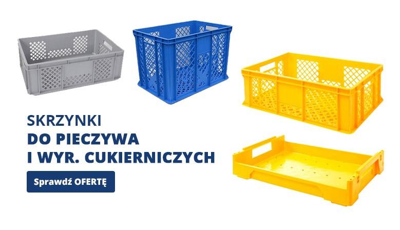 Skrzynki plastikowe do pieczywa i wyr. cukierniczych