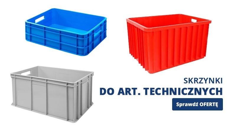 Skrzynki plastikowe do art. technicznych
